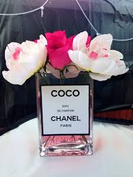 themed centerpieces chanel themed party perfume bottle centerpieces my creations