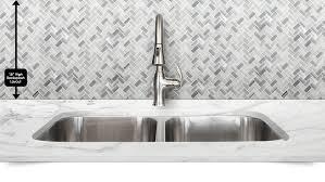 White Gray Herringbone Mosaic Kitchen Backsplash Backsplashcom - Herringbone tile backsplash