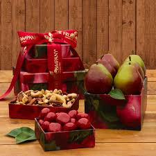 christmas fruit baskets pearfully yours mini gift tower the fruit company