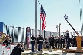 Marines Holding Flag American Flag Raised At U S Embassy In Havana Wsj