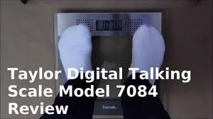 Talking Bathroom Scales Walmart by Taylor Digital Talking Bathroom Scale 7084 Review Youtube