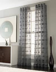 Dining Room Curtains Ideas by If We Curtains To Any Windows Othello Modern Geometric Curtain