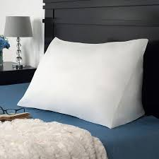 bed pillow for reading pillows design bed pillow wedges 2 remedy down alternate reading