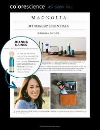 my makeup essentials joanna gaines magnolia colorescience