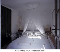 moustique dans ma chambre banque de photo blanc voile filet moustique au dessus lit à