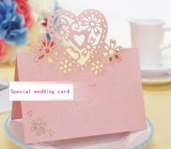 Special Wedding Invitation Card Design Wholesale Lovers Shaped Wedding Invitation Decorations Place Cards