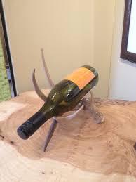 Single Wine Bottle Holder by Mad River Antler Real Antler Wine Racks U0026 Bottle Holders
