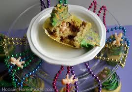 mardi gras king cake baby king cake cupcakes hoosier