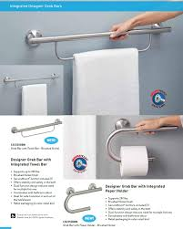 Designer Grab Bars For Bathrooms Close Out Door Knobs And Bathroom Hardware Eclectic Ware