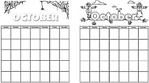 october coloring pages print u2013 free printable calendar