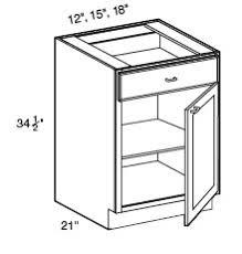 Bathroom Vanity Standard Depth All Wood Bath Vanity Base W Drawer 18