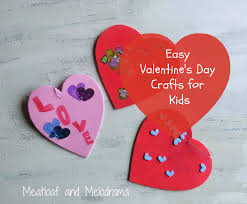 easy valentine u0027s day crafts for kids meatloaf and melodrama