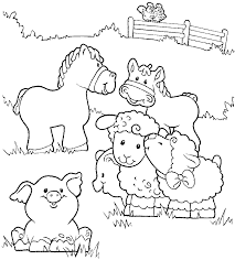 Lovely Farm Animal Coloring Pages 71 In Picture Coloring Page With Farm Color Page