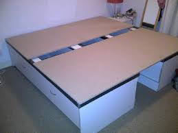 home dzine home diy how to make a storage base for a bed