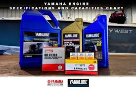yamaha engine specifications and capacities chart