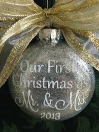 personalized wedding ornament our christmas ornament married just married ornament