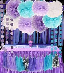blue baby shower decorations mermaid the sea decorations purple baby blue