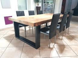 table bois cuisine cuisine bois et noir simple cuisine taupe et bois