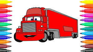 drawing cars 3 mack coloring pages kids draw