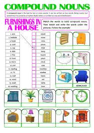 Compound Interest Worksheets 20 Free Esl Compound Nouns Worksheets