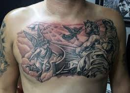 tattoo on chest or back 50 heaven tattoos for men higher place design ideas