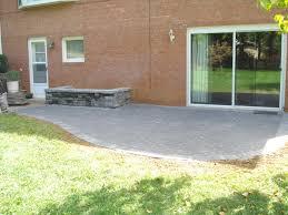 Backyard Patio Ideas Stone Simple Patio With Planter Stone Patio Ideas Flagstone Patio