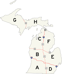 Printable Map Of Michigan by List Of County Designated Highways In Michigan Wikipedia