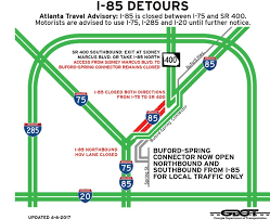 what is the date of the home depot spring black friday 2017 atlanta i 85 collapse map detours road closures alternative routes