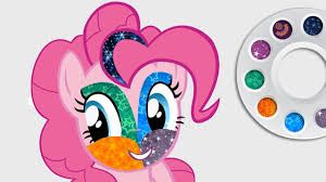 drawing my little pony pinkie pie face painting coloring pages