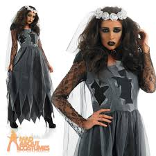 Halloween Costume Sale Uk Black Corpse Bride Costume Ladies Zombie Halloween Fancy Dress Uk