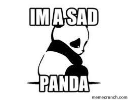 Sad Panda Meme - a sad panda