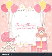 baby shower invitation card place stock vector 431981737