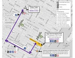 Nyc Traffic Map Everything You Need To Know About The Women U0027s March In Nyc On Saturday