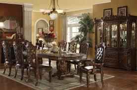 Formal Dining Room Furniture Sets Regular Height Formal Dining Double Pedestal Dining Table Set Co