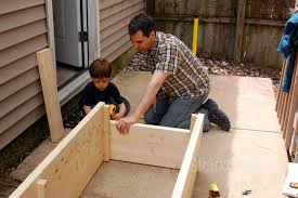 planter box diy jeff gets a hand from his 4 year old son photos