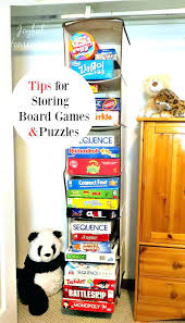 board game storage cabinet card game storage box black white game room storage cabinets