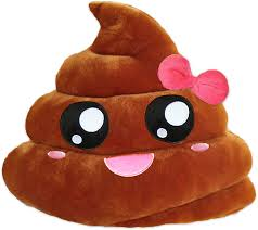 emoji emoji pillow smiley poo plush cushion