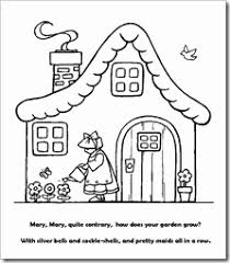 preschool coloring pages nursery rhymes mary mary quite contrary coloring page photograph preschool alphabet