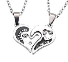 wholesale love necklace images I love you heart couple necklace jpg