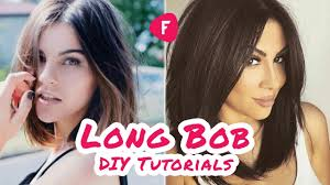 how to cut your own hair long bob diy tutorials compilation