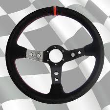 volante tipo volante tipo corsica piel vuelta linea roja brazos negros