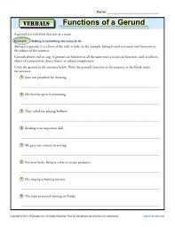 awesome collection of gerund as subject and object worksheets for