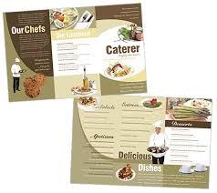 blank menu templates free catering menu design templates