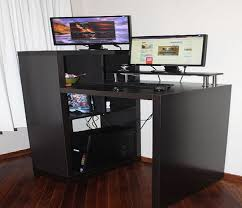 Diy Ikea Standing Desk by Innovative Stand Up Computer Desk Ikea Black Stand Up Computer