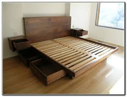 platform bed with drawers frames and room in frame storage plan 18