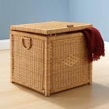 storage interior furniture ideas square wicker ottoman with
