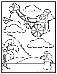 fiery furnace coloring page elijah and the chariot of fire coloring page bible crafts