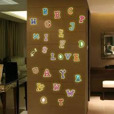 popular alphabet stickers wall buy cheap alphabet stickers wall glow in the dark diy luminous english alphabet wall stickers for kids room fluorescent word home