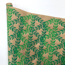 botanical wrapping paper christmas wrapping paper green ombre gift wrapping paper screen