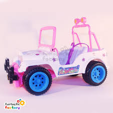 pink toy jeep barbie convertible jeep buggy funtastic factory